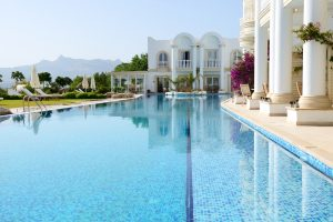 Swimming pool at luxury villa, Palmilla